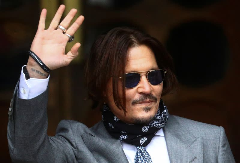 Ex-partners tell UK court Depp wife beater claims nothing like 'true Johnny'