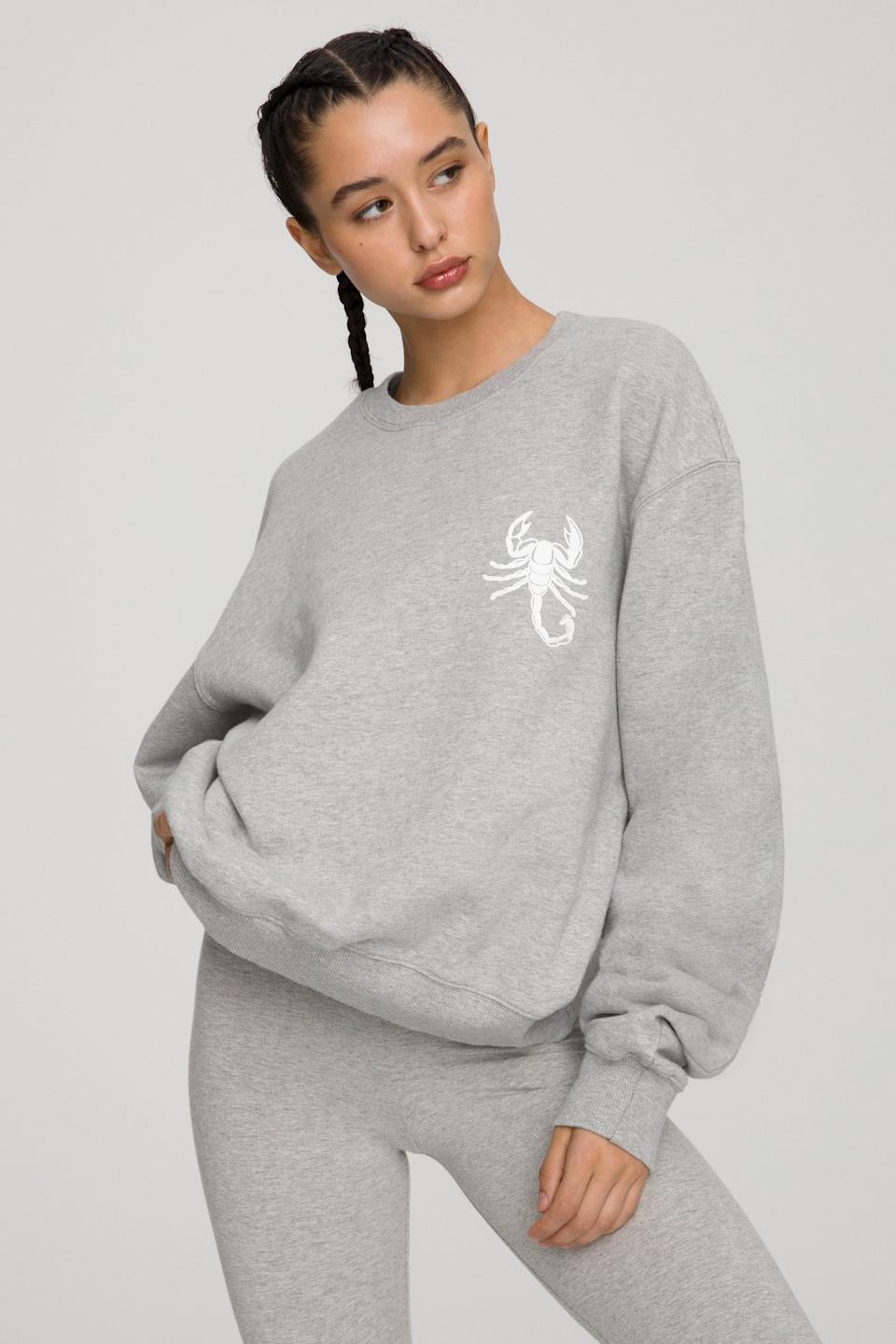 The Scorpio Zodiac Sweat Set from Good American. Sweatshirt, $124 and sweatpants, $105.