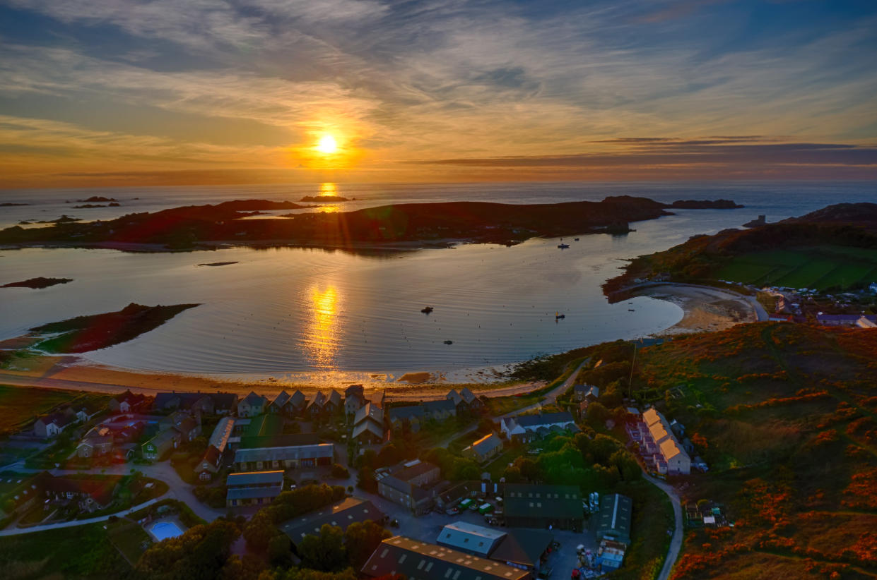 TRESCO, ISLES OF SCILLY, ENGLAND - APRIL 08: New Grimsby, Tresco, looking towards Bryher, Isles Of Scilly on April 8, 2021. (Photo by Chris Gorman/Getty Images)