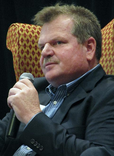 This June 2, 2016 photo shows State Sen Leland Christensen, one of eight Republican candidates for Wyoming's U.S. House seat, speaks at a Wyoming Retail Association forum in Cheyenne, Wyo. Liz Cheney, daughter of former Vice President Dick Cheney, has emerged as the best-funded candidate by far. (AP Photo/Mead Gruver)