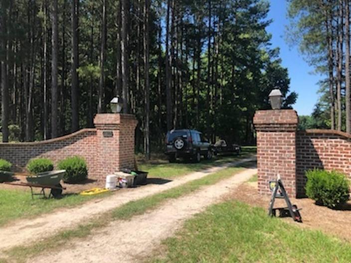 A worker was installing a metal gate at the entrance of the Murdaugh family home in Islandton, SC. He said it was for privacy because people had been trying to get on the property.