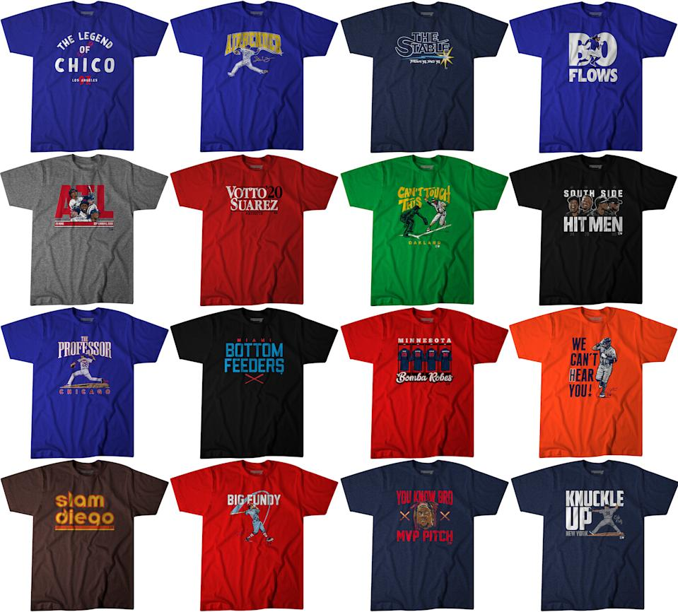 Watch your favorite MLB team compete for the pennant in these trendy new tees