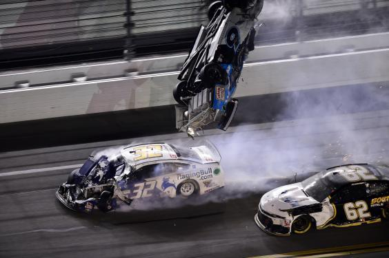 Newman was then hit again by the No 32 of Corey LaJoie (Getty)