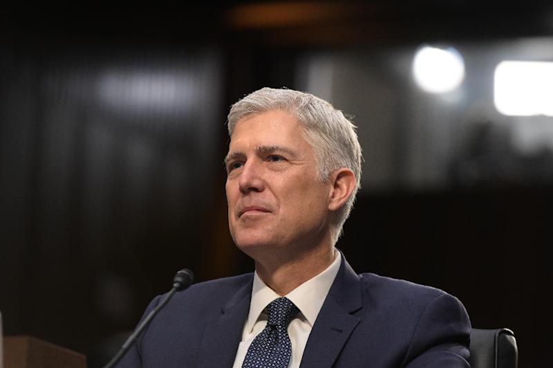 Neil Gorsuch testifies before the Senate Judiciary Committee on his US Supreme Court nomination March 22, 2017 (AFP Photo/MANDEL NGAN)