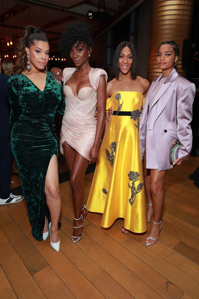 <p>Pictured: Hailie Sahar, Angelica Ross, Mj Rodriguez, and Indya Moore</p>