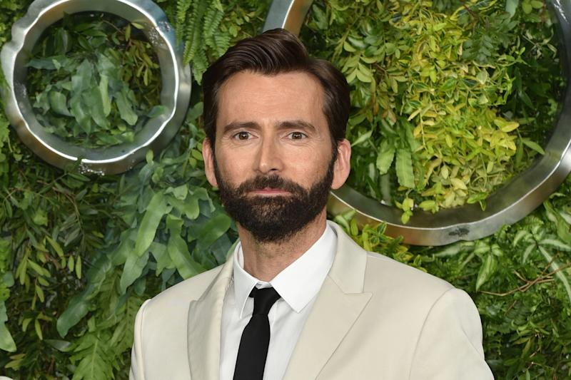 David Tennant seen during the TV premiere of Amazon Original 'Good Omens' in May 2019. (Photo by James Warren/SOPA Images/LightRocket via Getty Images)