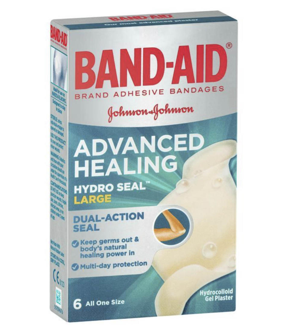 Band-Aid Advanced Healing Hydro Seal Gel Plasters Large 6 Pack, $6.99 from Chemist Warehouse