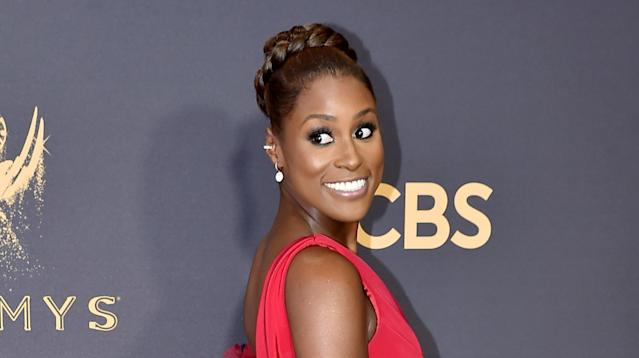 Issa Rae was unabashed about who she was supporting at the 2017 Emmys.