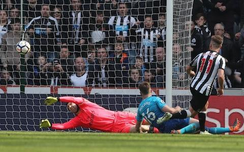 <span>Arsenal's disappointing away form continued in Newcastle with Mat Ritchie scoring the winner</span> <span>Credit: Reuters </span>