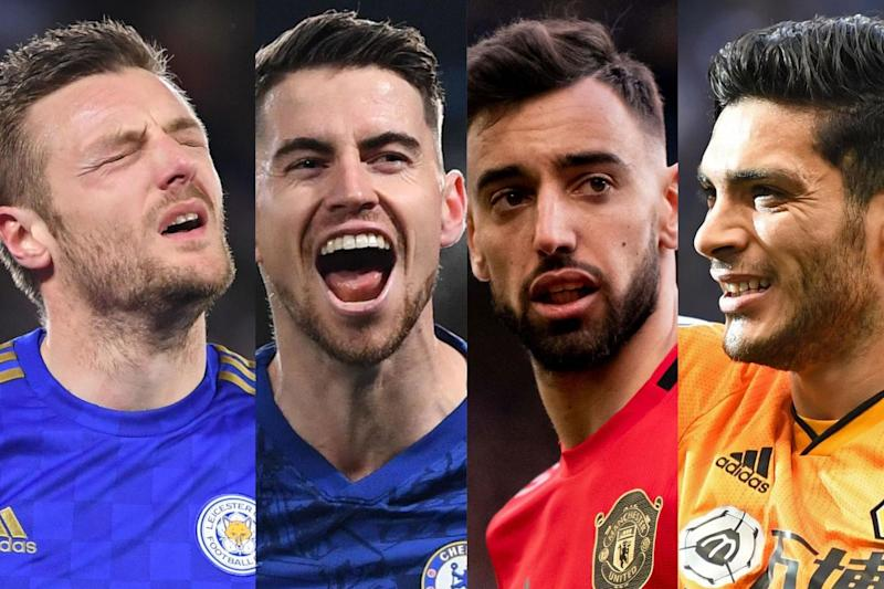 Champions League contenders: Leicester, Chelsea, Manchester United, Wolves, Tottenham and Sheffield United: Getty