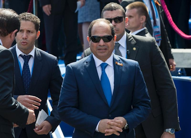 "Egyptian authorities have unleashed a ""reign of terror"" against opponents of President Abdel Fattah al-Sisi (pictured), an academic tells AFP (AFP Photo/Alexander Zemlianichenko)"
