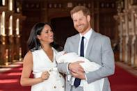"""<p>She <a href=""""https://www.townandcountrymag.com/society/tradition/a27557782/meghan-markle-prince-harry-archie-harrison-quotes/"""" rel=""""nofollow noopener"""" target=""""_blank"""" data-ylk=""""slk:previously said"""" class=""""link rapid-noclick-resp"""">previously said</a> about parenthood, """"It's magic. It's pretty amazing. And here I have the two best guys in the world, so I'm really happy.""""<br> </p>"""