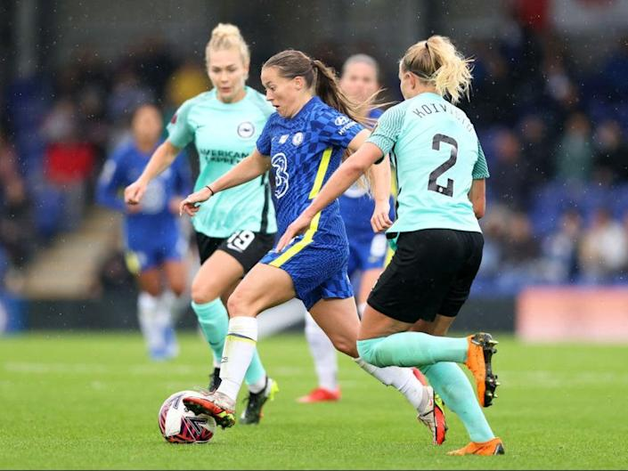 Fran Kirby assisted all three of Chelsea's goals against Brighton (Getty Images)