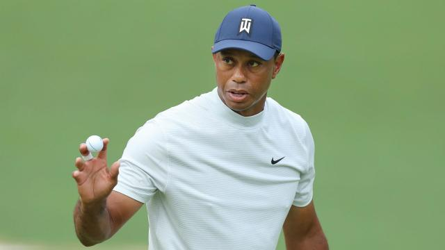 Five major champions shared the lead as the third round began at Augusta, but Tiger Woods was the star turn, only one off the pace.