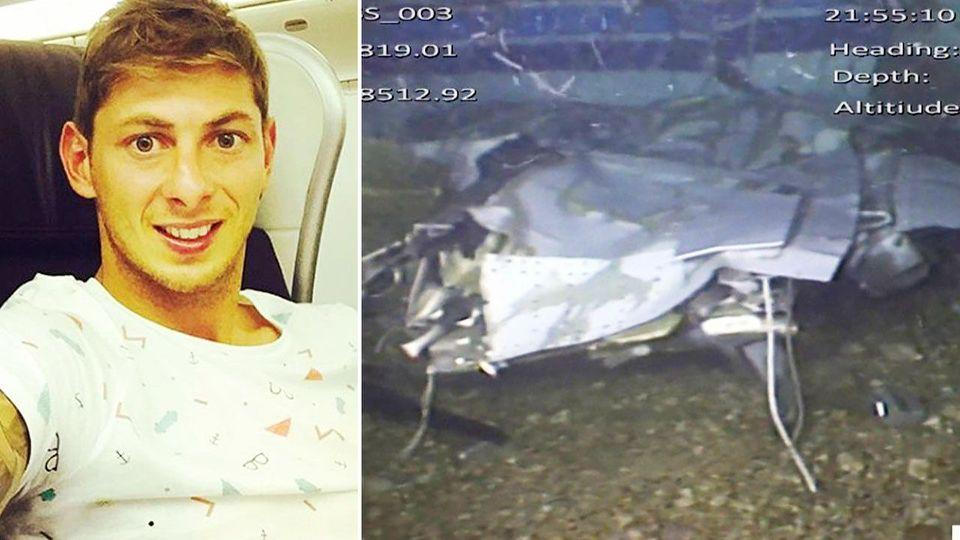 Wreckage of the plane Emiliano Sala was travelling in and the player himself are seen in these photos.