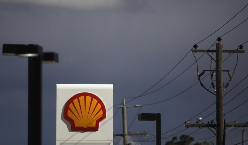 A Shell sign is seen at a petrol station in Melbourne