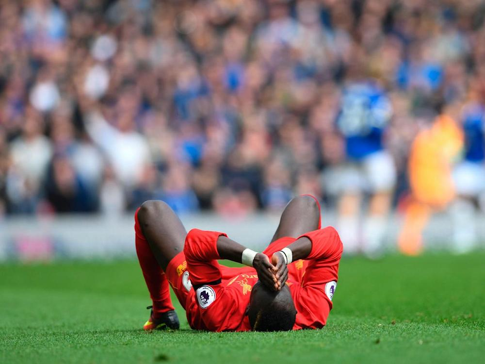 Sadio Mane suffered an injury during the second half (Getty)