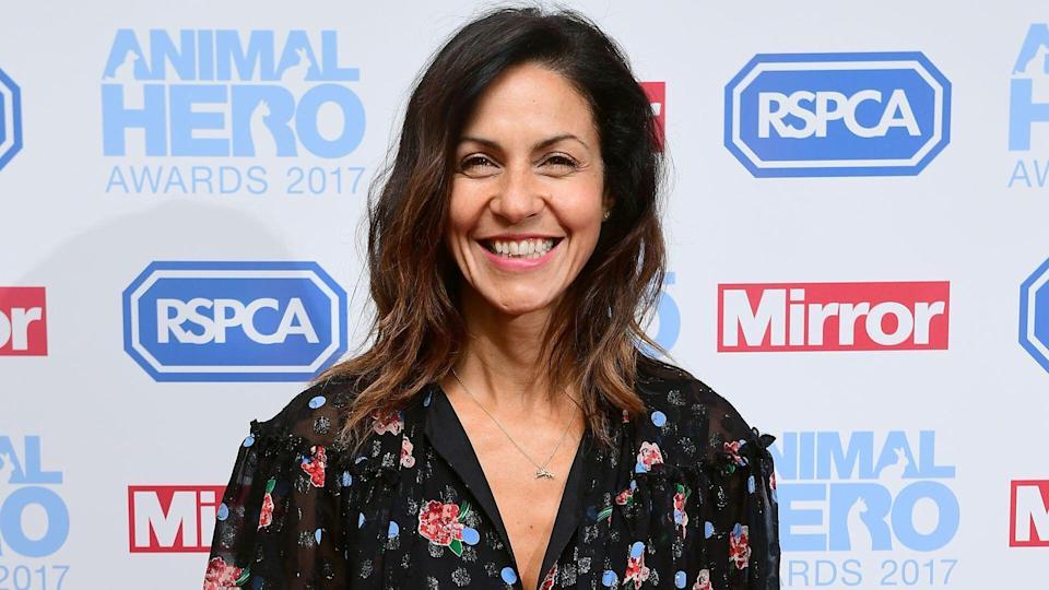Julia Bradbury attending The Animal Hero Awards held at Grosvenor House Hotel, London. (Credit: Ian West/PA Wire)