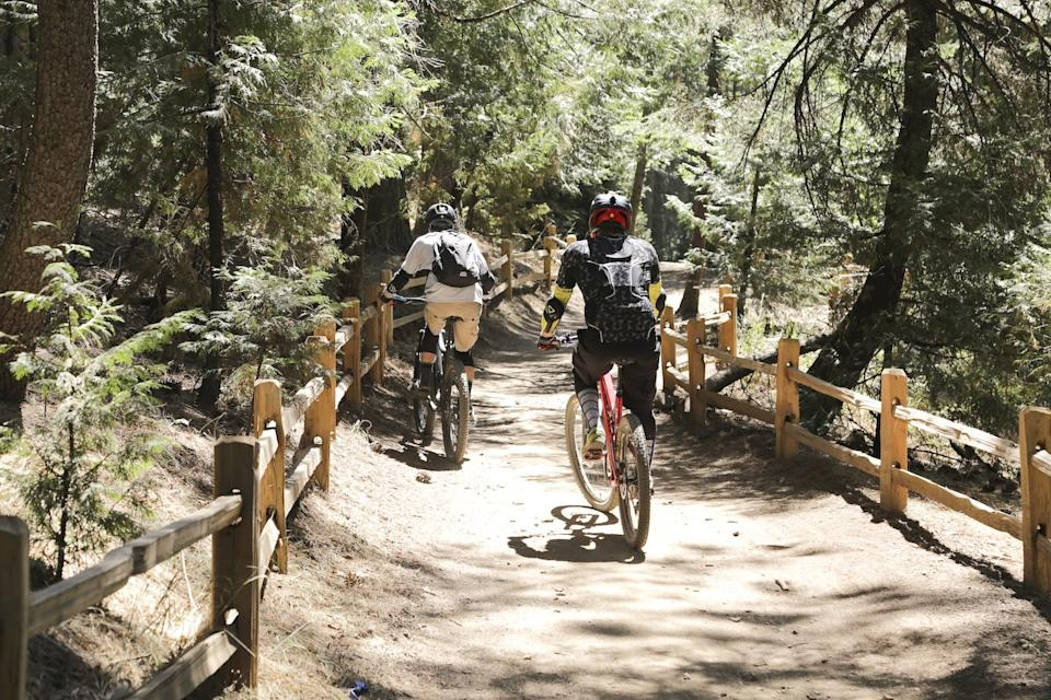 Mountain biking is one of the activities at SkyPark at Santa's Village in Lake Arrowhead.