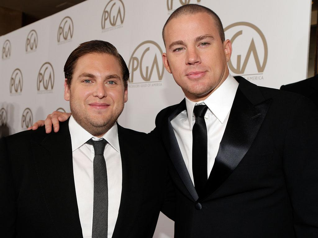 BEVERLY HILLS, CA - JANUARY 26:  Actors Jonah Hill and Channing Tatum arrive at the 24th Annual Producers Guild Awards held at The Beverly Hilton Hotel on January 26, 2013 in Beverly Hills, California.  (Photo by Jeff Vespa/WireImage)