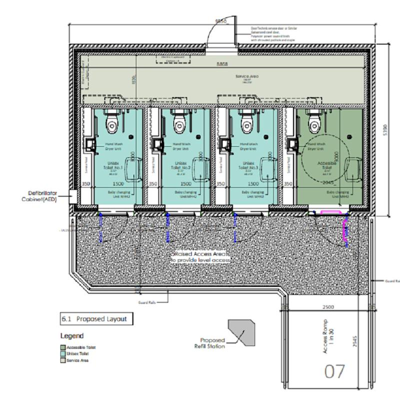 The plans for the futuristic toilets (Porthcawl Town Council)