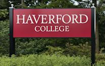 """<p>Haverford, Pennsylvania</p><p>Tuition: <a href=""""https://www.haverford.edu/admission/tuition-and-aid"""" rel=""""nofollow noopener"""" target=""""_blank"""" data-ylk=""""slk:$52,278"""" class=""""link rapid-noclick-resp"""">$52,278</a></p>"""