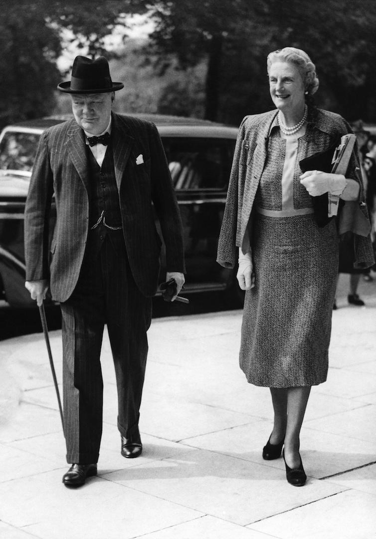 During World War II, Lady Clementine Churchill became the Chairman of the Red Cross Aid to Russia Fund, the President of the Young Women's Christian Association War Time Appeal and the Chairman of Maternity Hospital for the Wives of Officers, Fulmer Chase. Her and husband Winston Churchill went on to have five children together. <em>[Photo: Getty]</em>