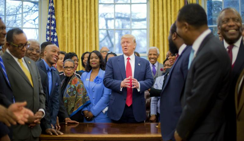 Trump with HBCU leaders