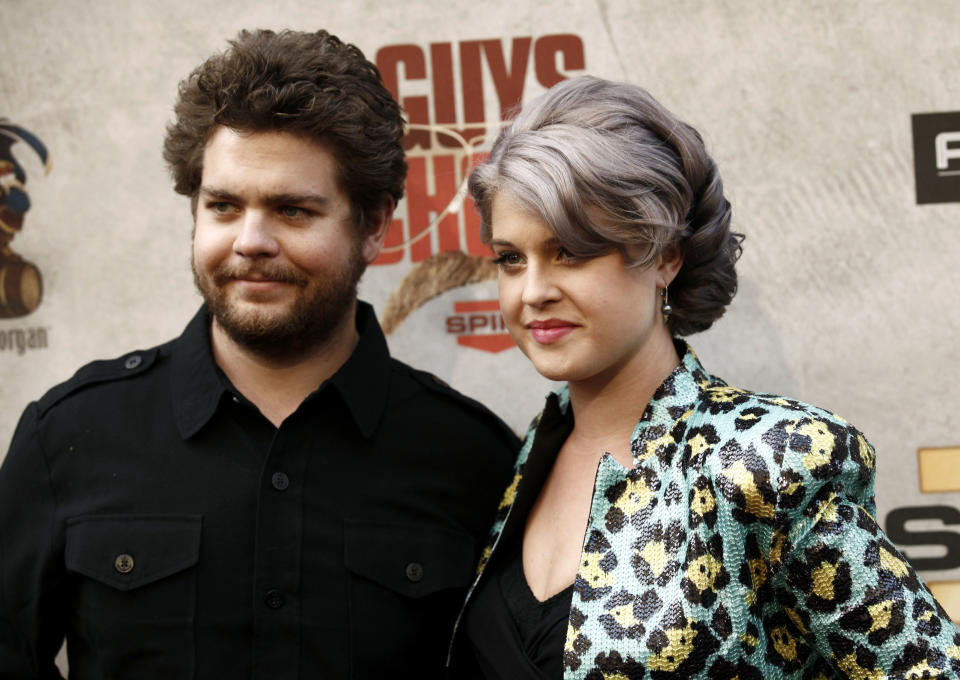 Jack, left, and Kelly Osbourne arrive at Spike TV