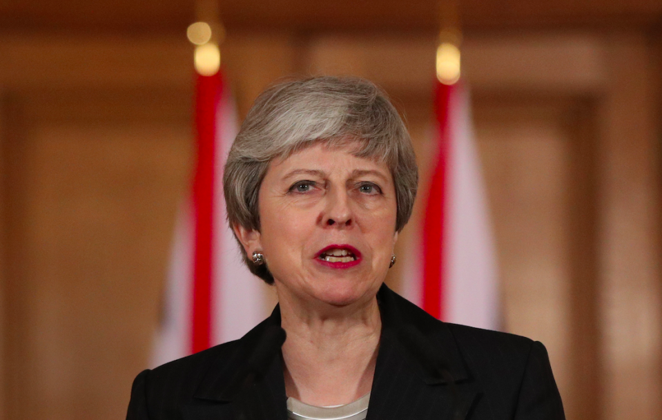 <em>Mrs May attacked MPs for not implementing the result of the EU referendum (Getty)</em>