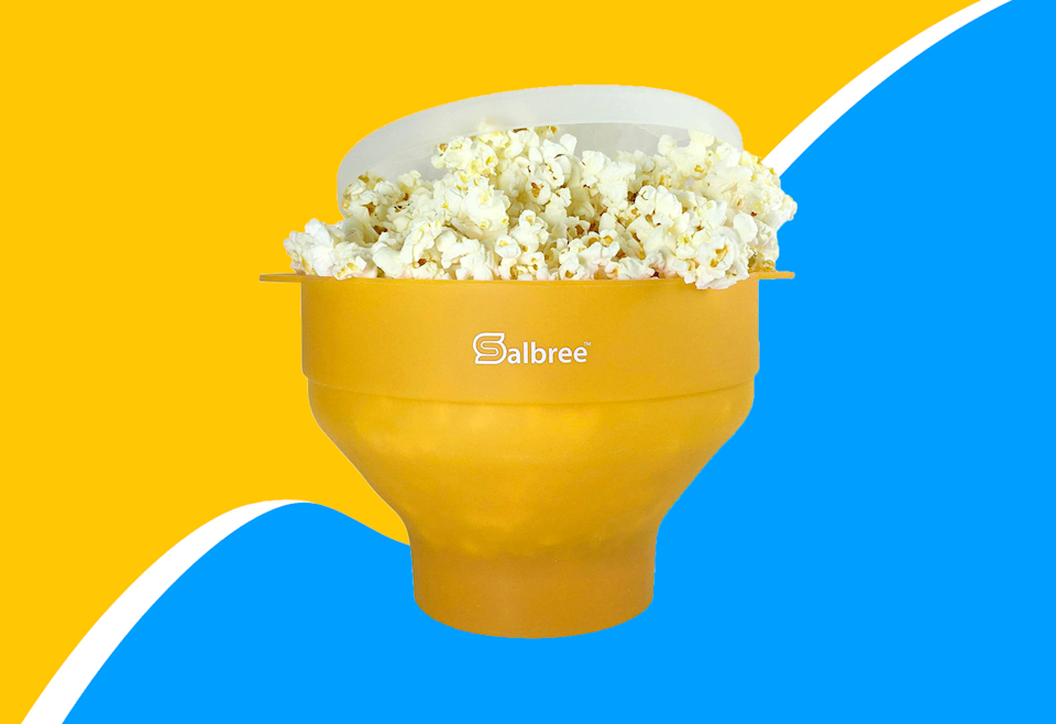 Take home this collapsible popcorn maker for 60% off right now.