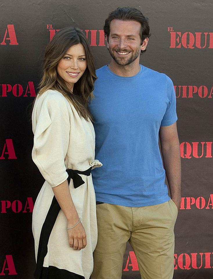 """According to the <i>National Enquirer</i>, Jessica Biel totally wants Bradley Cooper. The mag says Biel has had """"a crush"""" on Cooper ever since they shot """"The A-Team"""" together last year, but she was still dating Justin Timberlake and he was with Renee Zellweger. Now that they're both single, reports the <i>Enquirer</i>, Biel finally """"swooped in and made her move"""" on Cooper. For how their romance is progressing, and when they'll go public, check out what a Biel friend leaks to <a href=""""http://www.gossipcop.com/jessica-biel-bradley-cooper-date-dating-hooking-up/ """" target=""""new"""">Gossip Cop</a>. Eduardo Parra/<a href=""""http://www.wireimage.com"""" target=""""new"""">WireImage.com</a> - July 26, 2010"""