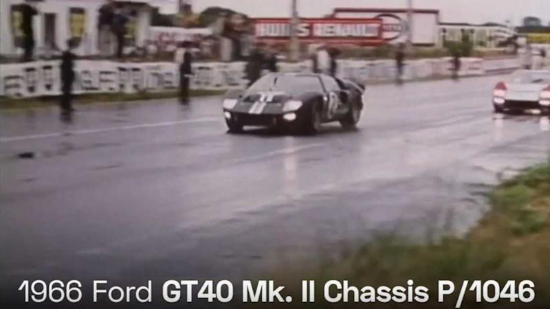 VIDEO: 1966 Ford GT40 Mk. II P/1046 Won Le Mans For Ford, and America