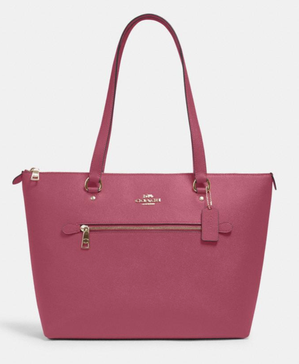 Gallery Tote in Bright Violet (Photo via Coach Outlet)