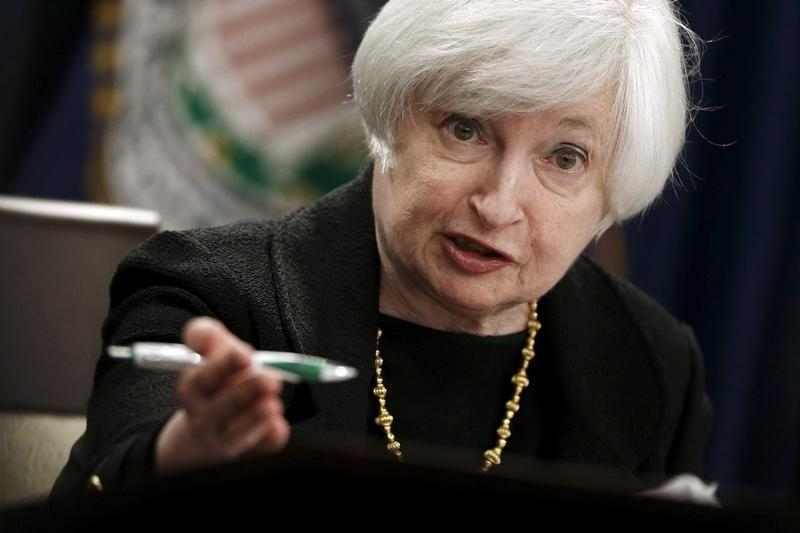 Yellen holds a news conference following the Federal Open Market Committee meeting in Washington