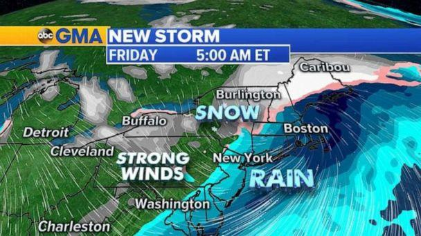 PHOTO: Some areas along I-95 could see a brief period of snow towards the end of the week. (ABC News)