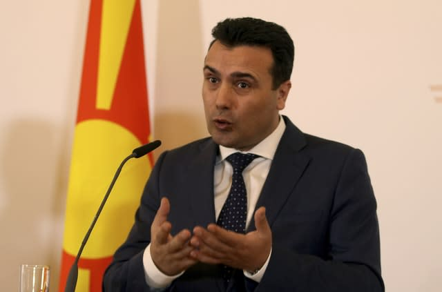 Greece's Parliament backs Nato admission for Macedonia