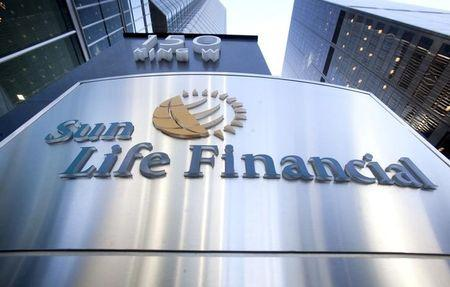 FILE PHOTO: The logo of Sun Life Financial is seen in Toronto