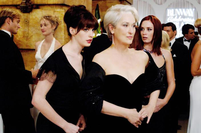 """<p>My mom and I watch <em>The Devil Wears Prada</em> a lot because we both love the clothes, as well as Meryl Streep, Emily Blunt, and Stanley Tucci's characters. We like Anne Hathaway too—but those three bring the funniest parts in this comedy about an assistant to the icy editor-in-chief of a fashion magazine. —<em>EL</em> </p> <p><a href=""""https://www.amazon.com/Devil-Wears-Prada-Meryl-Streep/dp/B000LX00RY"""" rel=""""nofollow noopener"""" target=""""_blank"""" data-ylk=""""slk:Stream it on Amazon Prime Video"""" class=""""link rapid-noclick-resp""""><em>Stream it on Amazon Prime Video</em></a></p>"""