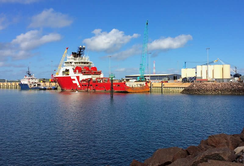 FILE PHOTO: Supply vessels for the offshore gas rigs sit at Darwin port in northern Australia