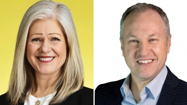 Moncton's two candidates for mayor are incumbent Dawn Arnold and challenger Erik Gingles. (Submitted - image credit)