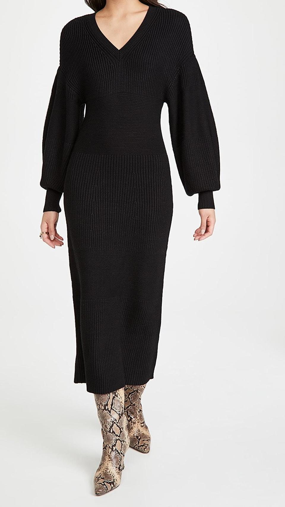 <p>This <span>Staud Carnation Dress</span> ($275) is beautiful. It comes in three colors, but you can't go wrong with basic black.</p>