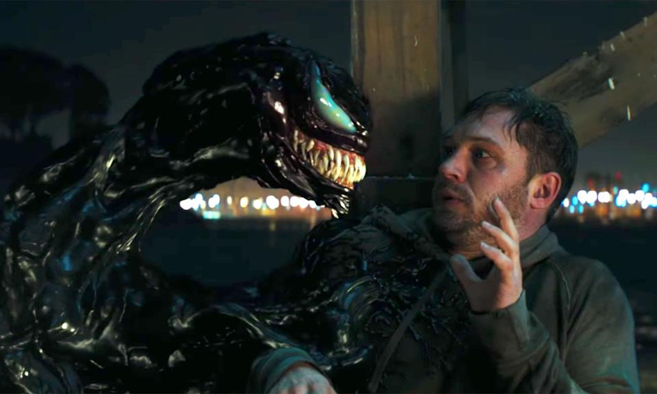 Andy Serkis and Tom Hardy are having a great time on Venom 2