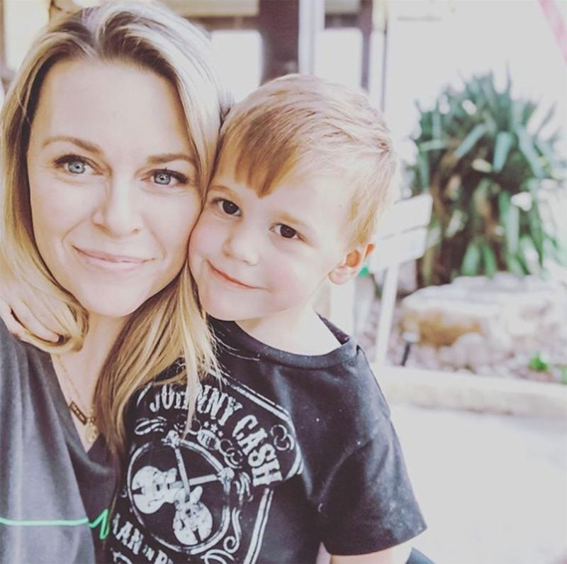 Amber Smith and son River