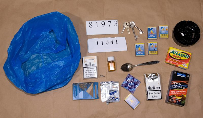 Undated Metropolitan Police handout photo of property seized from John Worboys, who was found guilty today of drugging a woman passenger and sexually assaulting her by a jury at Croydon Crown Court.