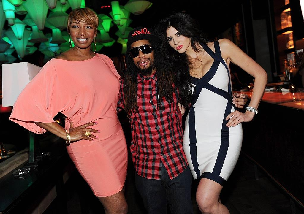 """""""Celebrity Apprentice"""" cast mates NeNe Leakes, Lil Jon, and model Hope Dworaczyk gathered in Las Vegas to celebrate the premiere of the reality show's new season. David Becker/<a href=""""http://www.wireimage.com"""" target=""""new"""">WireImage.com</a> - March 6, 2011"""