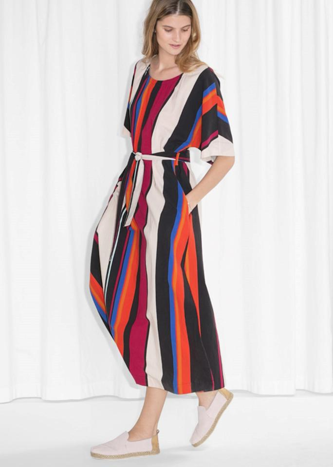 """& Other Stories TOMS Maxi Dress, $85; at <a rel=""""nofollow"""" href=""""http://www.stories.com/us/Face_body/TOMS_Maxi_Dress/591731-0485699001.2"""">& Other Stories</a>"""
