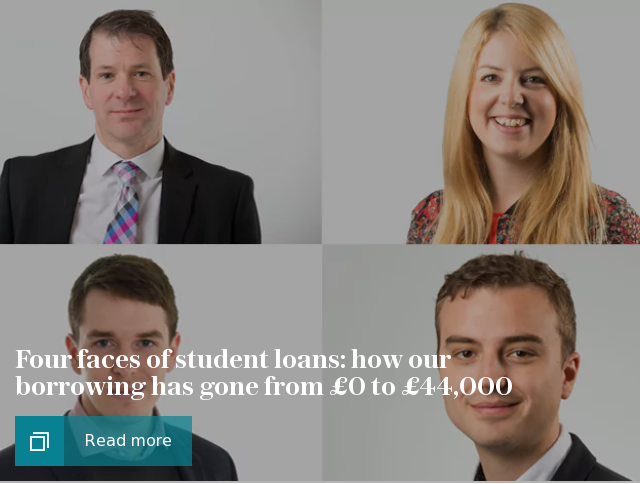 Four faces of student loans: how our borrowing has gone from £0 to £44,000