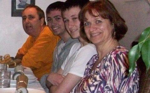 Diane Stewart, who died in 2010, with her sons, Jamie and Oliver and husband Ian