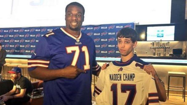 David Katz, right, has been identified by Jacksonville police as the suspected shooter at a Madden NFL esports tournament on Sunday, Aug. 26, 2018. Two people were killed and Katz committed suicide, police said. (Twitter/@buffalobills)